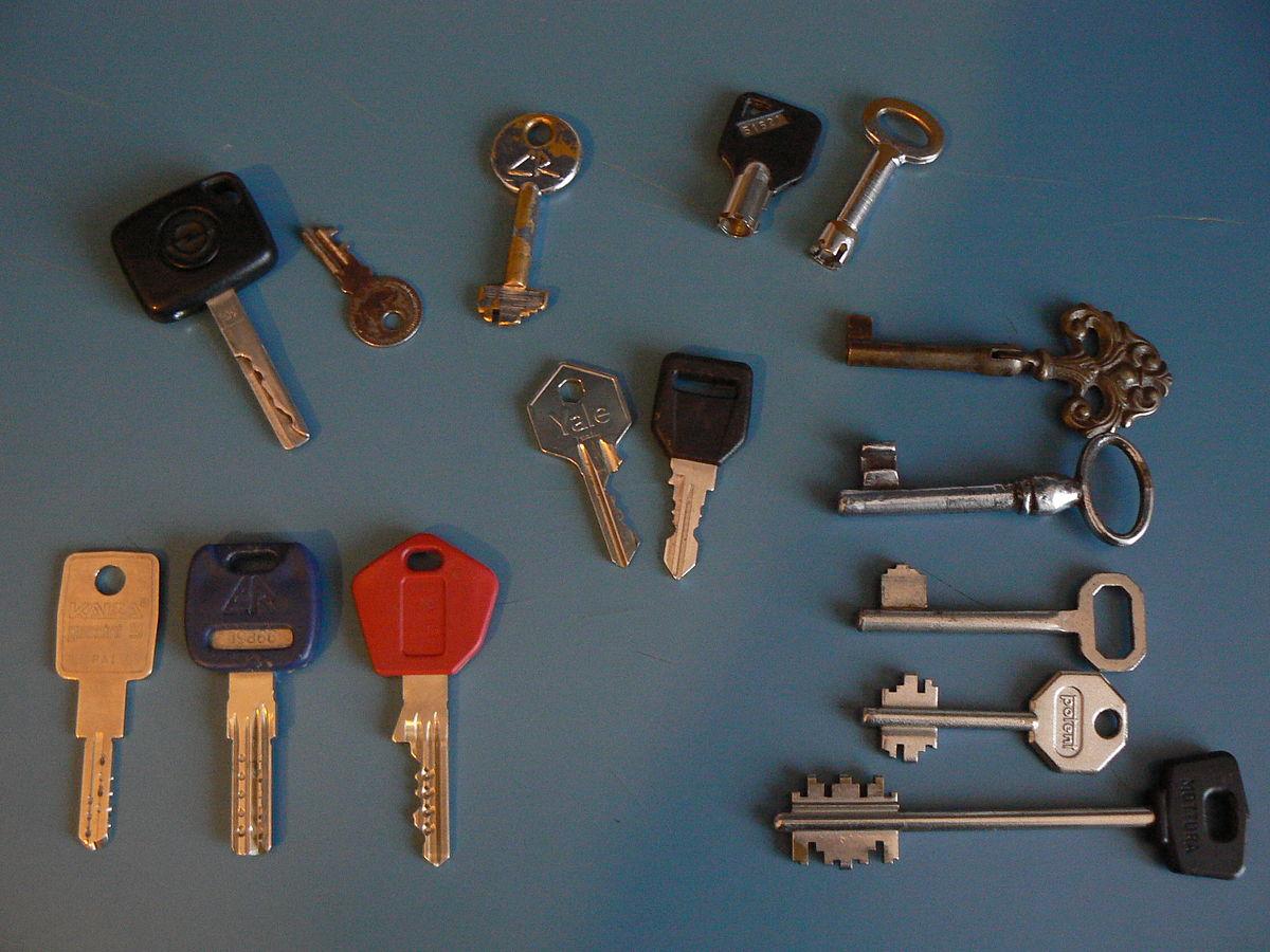 Chiave serratura wikipedia for Tipi di schierandosi per le case