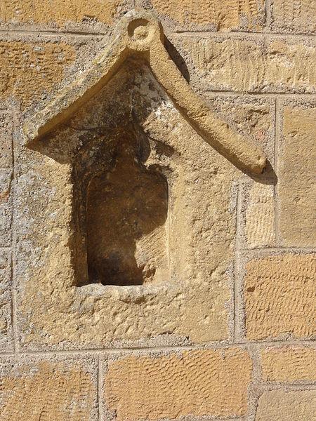 Vaudoncourt (Meuse) église,  détail façade chevet