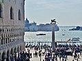 Venezia Basilica di San Marco Terrasse Blick auf San Giorgio.jpg