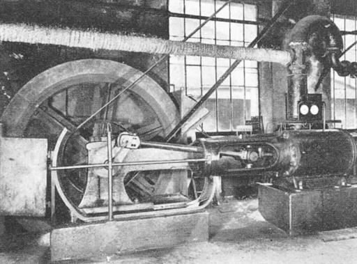 Verkehrt laufende Dampfmaschine