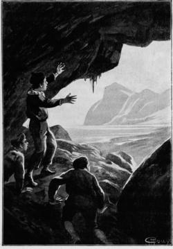 Verne - Les Naufragés du Jonathan, Hetzel, 1909, Ill. page 138