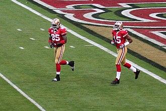 Vernon Davis - Davis (left) with wide receiver Michael Crabtree in 2009