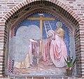 Vicenza, san lorenzo, affresco di guariento 02.JPG