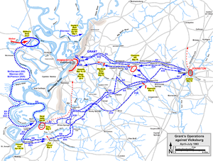 Battle of Big Black River Bridge - Grant's operations against Vicksburg