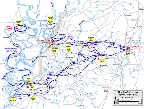 An analysis of the vicksburg campaign and the role of civil war