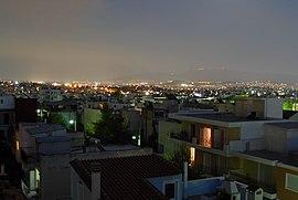 Widok z Aten z Ano Liosia