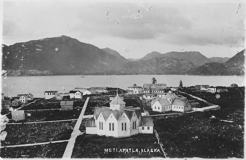 View of Metlakahtla, Alaska. - NARA - 297857.jpg