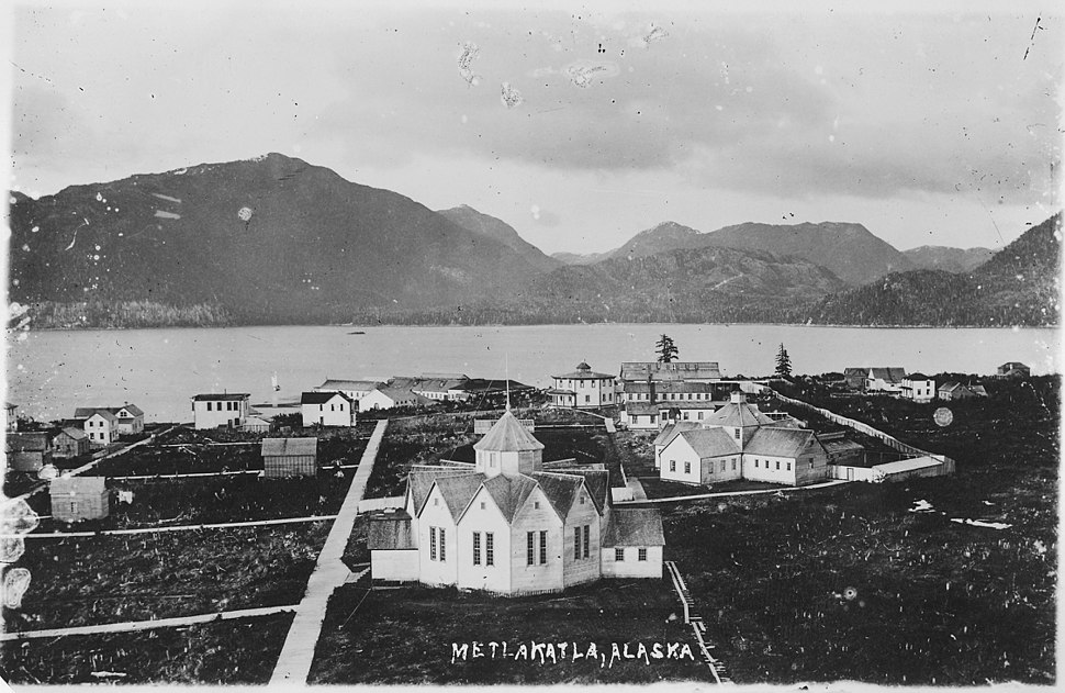 View of Metlakahtla, Alaska. - NARA - 297857