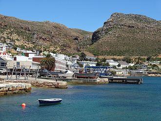 Naval Base Simon's Town - Image: View of SAS Simonsberg, Simon's Town