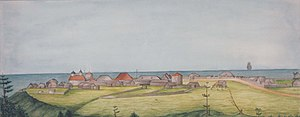 "Fort Ross, California - ""Settlement Ross, 1841"" by Ilya Gavrilovich Voznesensky"