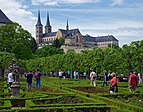 View of the Michaelsberg Abbey from the Rosengarten. Bamberg, Germahy.jpg