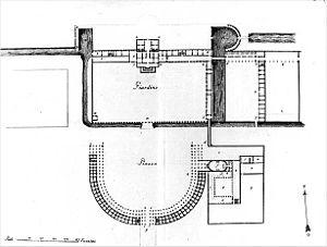 Villa Contarini - Floor plan of the villa complex (drawing by Francesco Muttoni, 1760)