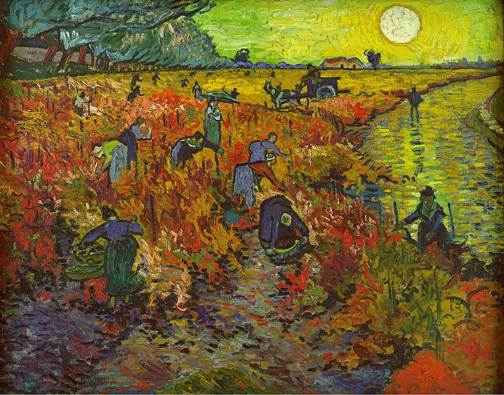 """The Red Vineyard"" by Vincent van Gogh"