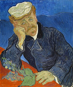 1890 in art - Vincent van Gogh – Portrait of Dr. Gachet, 1890 (Musée d'Orsay, Paris)