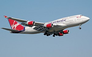 Virgin Atlantic Airways Boeing 747-400 (G-VBIG...