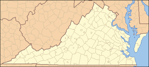 Mount Rogers National Recreation Area - Image: Virginia Locator Map