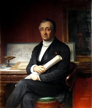 Louis Visconti - Louis Visconti; portrait by Théophile Vauchelet (1802-1873).