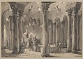 Visitors with Torches Inside a Circular Building MET DP221573.jpg