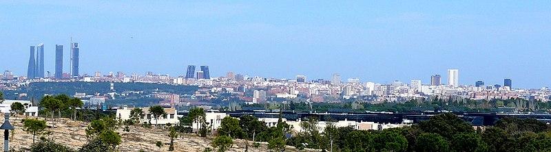 Vista panorâmica de Madrid atualmente.