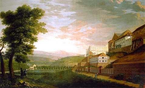 Vista de parte del Real Palacio desde la Cuesta de la Vega