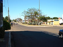 A view of Internacional Avenue, which marks the border with Paraguay.