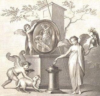 Le Antichità di Ercolano - Victory sacrifices to Athena (volume 2)