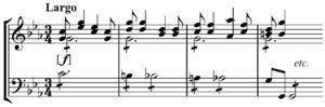 Lament bass - Image: Vivaldi lament bass from RV 631, Aria No. 2