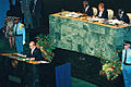 Vladimir Putin at the Millennium Summit 6-8 September 2000-2.jpg