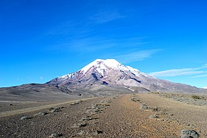 Chimborazo - The summit of Chimborazo, the point on the Earth's surface that is farthest from the Earth's center.