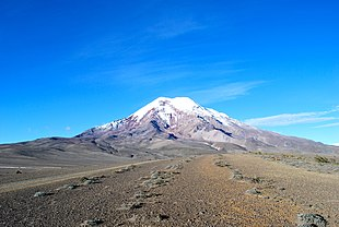 """The <a href=""""http://search.lycos.com/web/?_z=0&q=%22summit%22"""">summit</a> of Chimborazo, the point on the <a href=""""http://search.lycos.com/web/?_z=0&q=%22Crust%20%28geology%29%22"""">Earth's surface</a> that is farthest from the <a href=""""http://search.lycos.com/web/?_z=0&q=%22Planetary%20core%22"""">Earth's center</a>."""