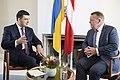 Volodymyr Groysman with Lars Løkke Rasmussen - 2018 (MUS6603).jpg