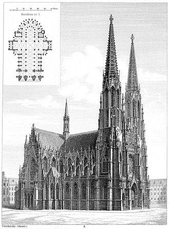 Votivkirche, Vienna - Illustration, 1879