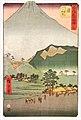 Vue du Mont Fuji et du Mont Ashitaka d'Utagawa Hiroshige (musée d'art oriental, Venise) (28023765389).jpg
