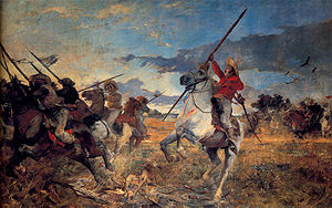 José Antonio Páez - Páez at the battle of Las Queseras del Medio