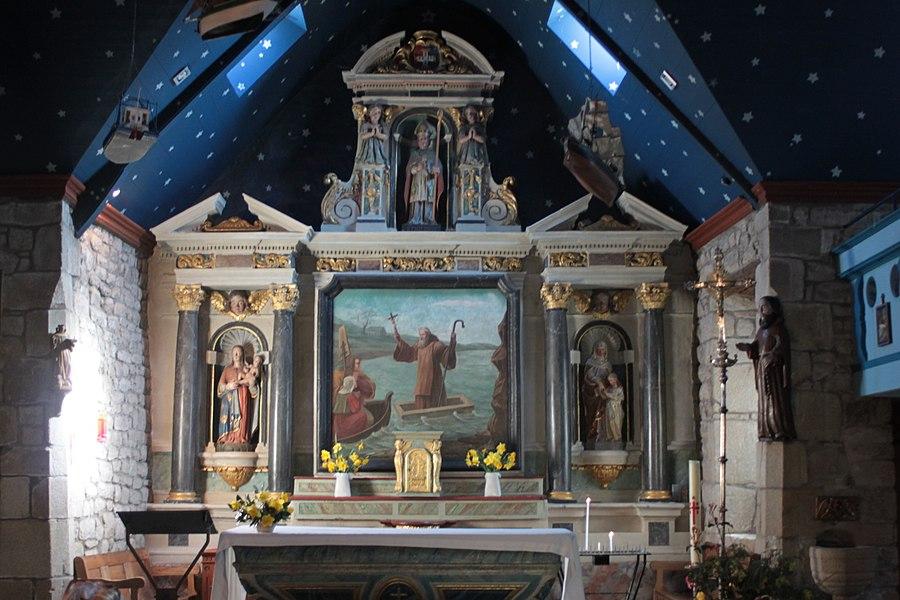 Chœur, chapelle Saint-Philibert, dite Notre-Dame des Flux et Reflux ou Notre-Dame du Ster, Fr-56-Saint-Philibert.