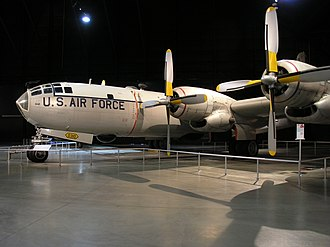 358th Fighter Squadron - B-50D-115BO, AF Ser. No. 49–310, used for weather reconnaissance on display at the United States Air Force Museum