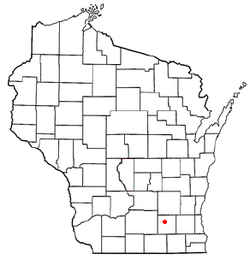 Location of Aztalan, Wisconsin
