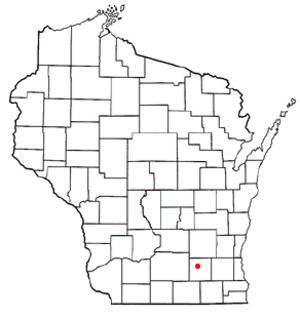 Aztalan, Wisconsin - Image: WI Map doton Aztalan