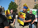 WI Union activists protest outside McCain Town Hall in Racine, July 31, 2008 (2722181319).jpg