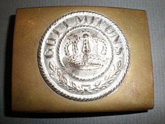 Frank Buckles - A belt buckle similar to the one given to Buckles by a German prisoner in 1918