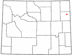 Location of Osage, Wyoming