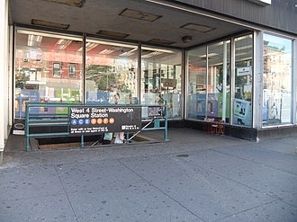 West Fourth Street–Washington Square (New York City Subway) - Street stair