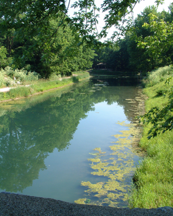A restored section of canal in Delphi, Indiana