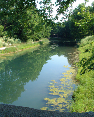 Wabash and Erie Canal - A restored section of canal in Delphi, Indiana