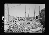 Walling up of one of the main str(eet)s in Old City between Jewish & Arab Qu(arters) LOC matpc.19057.jpg