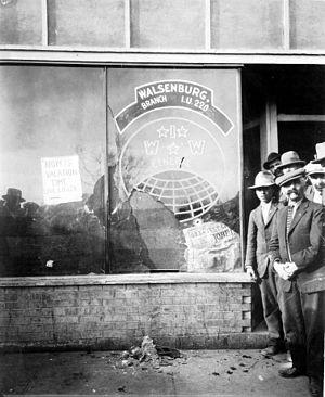 Walsenburg, Colorado - Walsenburg shooting at the Walsenburg Industrial Workers of the World Hall on January 28, 1928