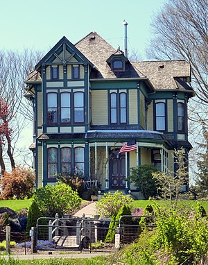 Warrenton, Oregon - The historic D.K. Warren House (built 1885) on NE Skipanon Dr.
