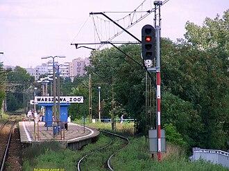 Warszawa Zoo railway station - Image: Warszawa Zoo