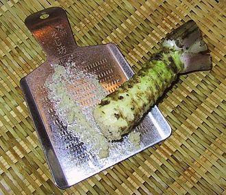 Wasabi - Wasabi on a metal oroshigane grater