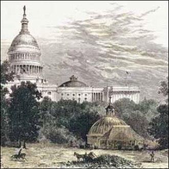 United States Botanic Garden - Image: Washington 1874 us botanic garden